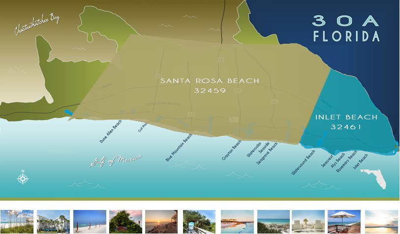 30A Map by Zip Codes _ 32459_32461