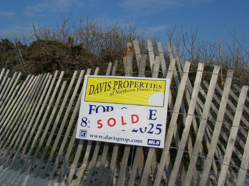 davis property sold sign